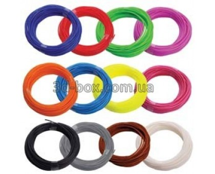 Пластик ABS Eco для 3D-ручки | Набор из 12 цветов по 10м (L) | 3D-Box