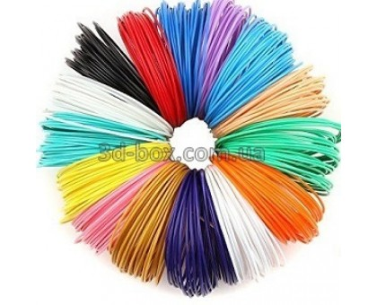 PLA пластик для 3d-ручки | Набор 20 цветов